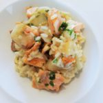 Risotto met zalm en witloof