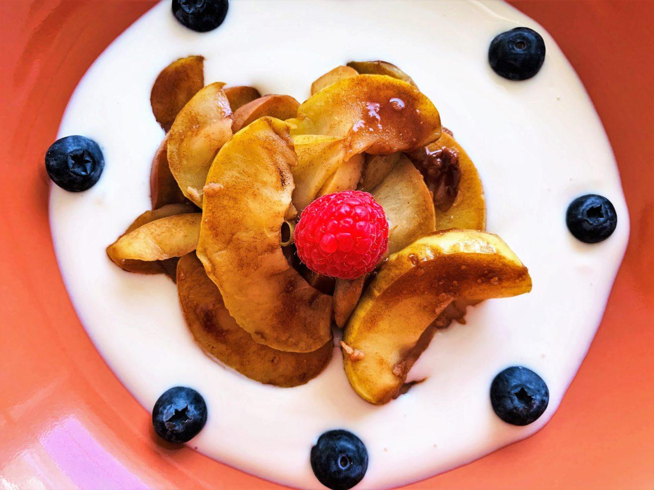 Gember-kaneel appeltjes ontbijt/snack